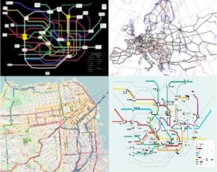 randomly walking on spatial networks